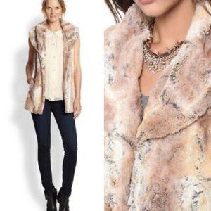 Alice + Olivia Annistyn Long Faux Fur Vest m